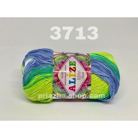 """пряжа alize miss batik 3713 ( ализе мисс батик ) для вязания крючком ажурных изделий, приятна для взрослых и идеальна для детей - купить в украине в интернет-магазине """"пряжа-shop"""" 168 priazha-shop.com 2"""