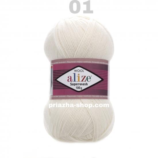 """пряжа alize superwash 01 ( ализе супервош ) для теплых носков, свитеров, кардиганов - купить в украине в интернет-магазине """"пряжа-shop"""" 3286 priazha-shop.com 2"""